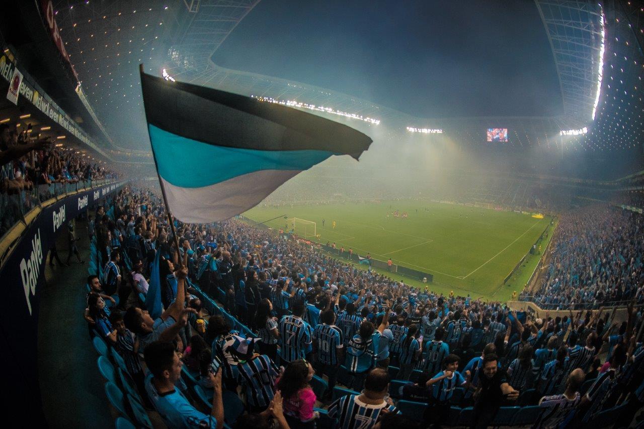 """CBF define o segundo jogo do Grêmio na Arena no """"horário ..."""